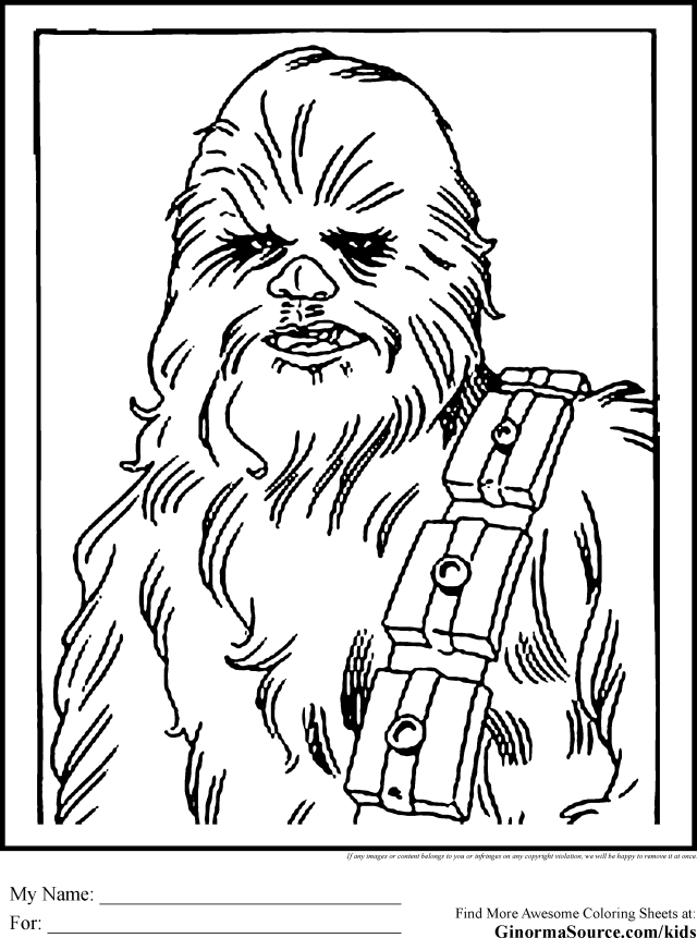 Chewbacca Coloring Page - Coloring Home