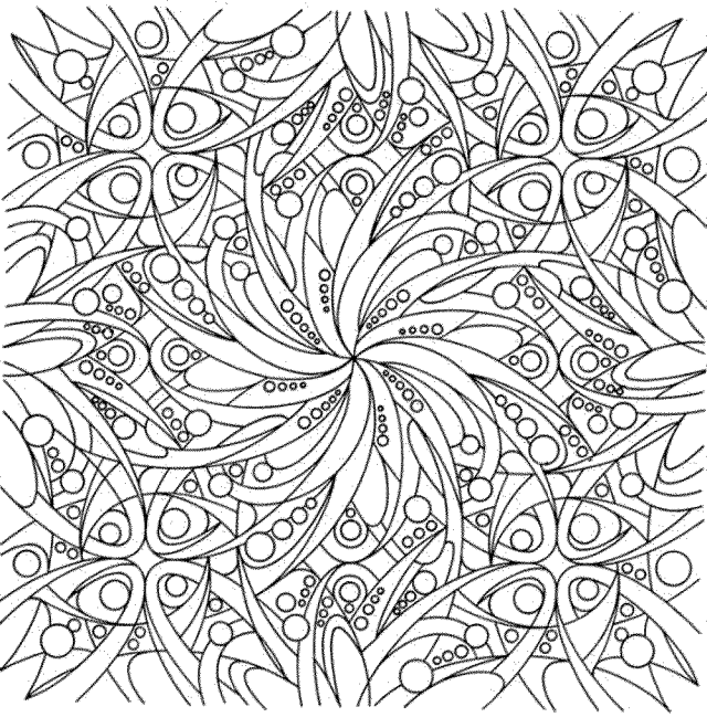 Abstract Coloring Pages For Adults - Printable Kids Colouring