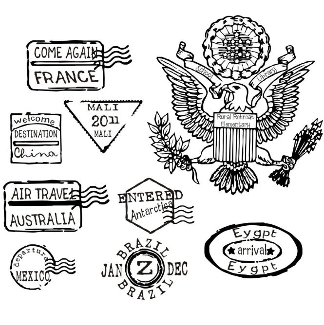 passport coloring page home - Passport Coloring Page