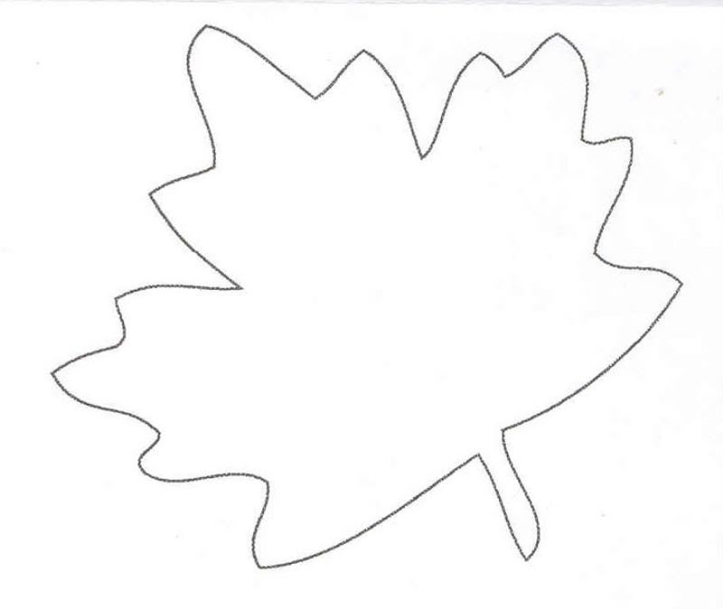 Large Leaf Template Coloring Home