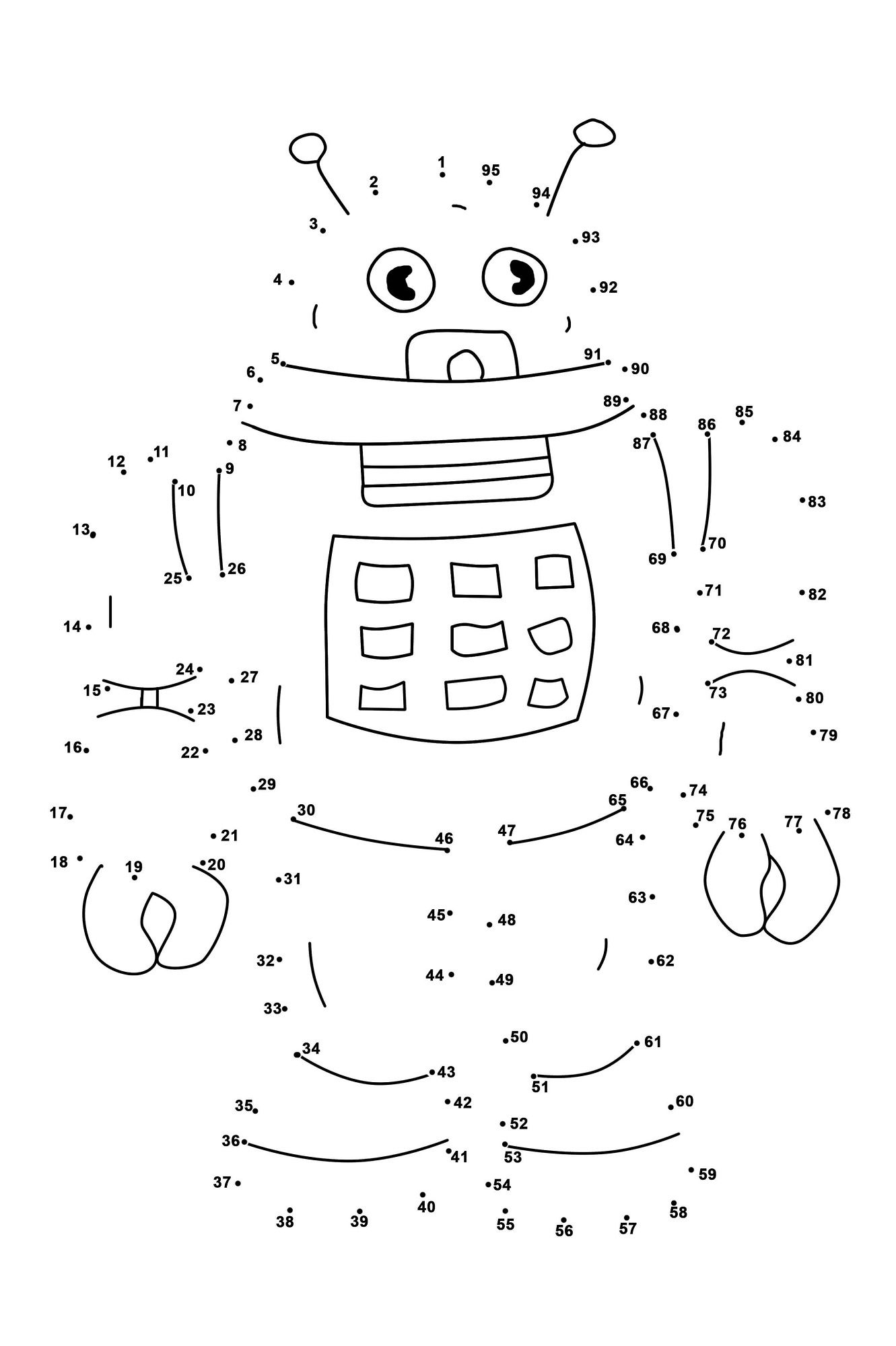 Medium Dot To Dots Coloring Pages