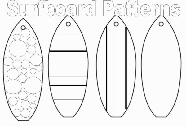 surfboard coloring page # 2
