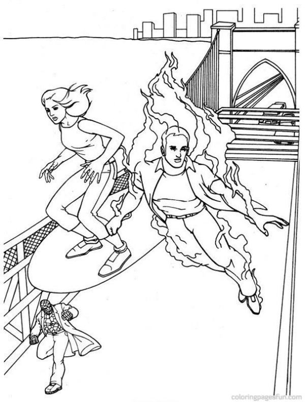 fantastic four coloring pages # 35