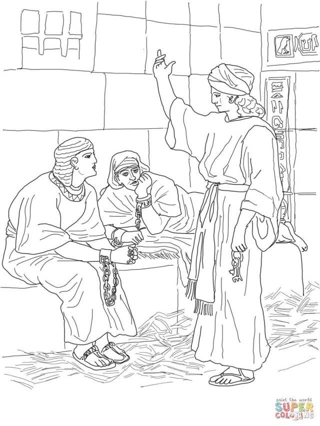 Joseph In Prison Coloring Pages - Coloring Home