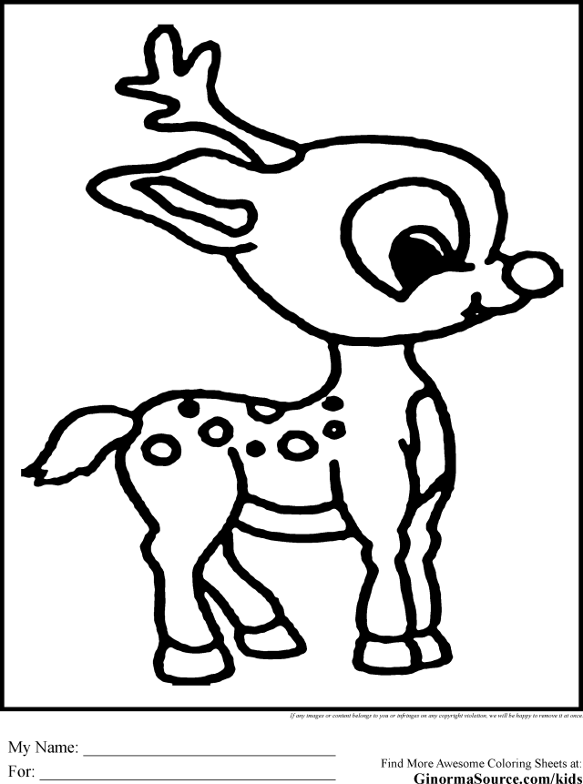 Rudolph - GINORMAsource Kids - Coloring Home