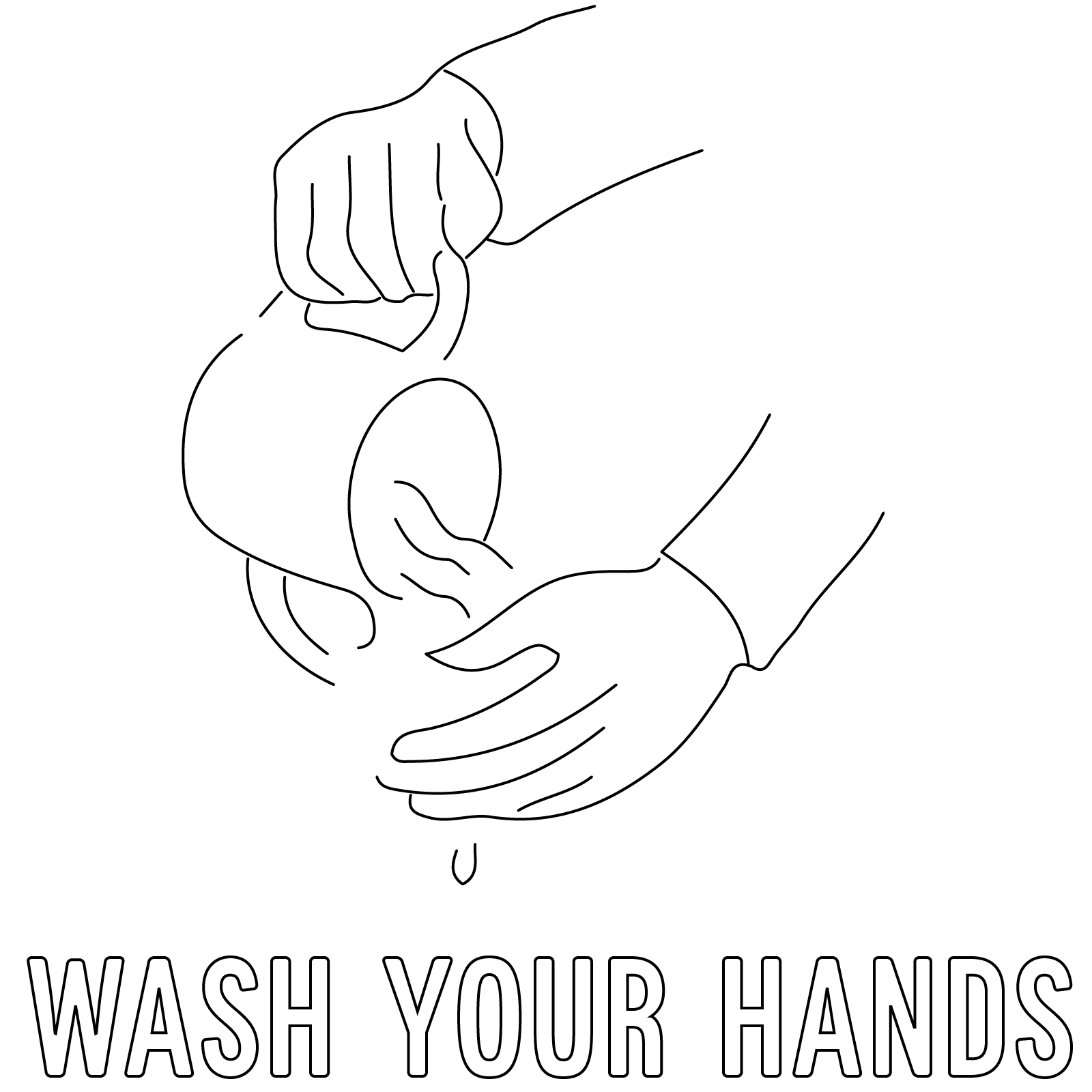 Wash Hands Coloring Pages