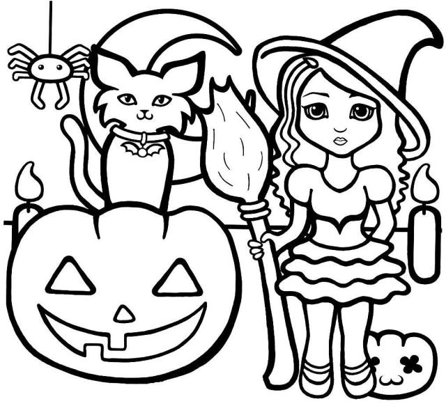 Print Halloween Coloring Pages For Preschoolers Or Download