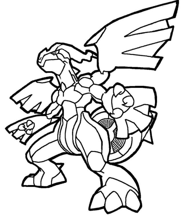 Zekrom Coloring Pages - Coloring Home