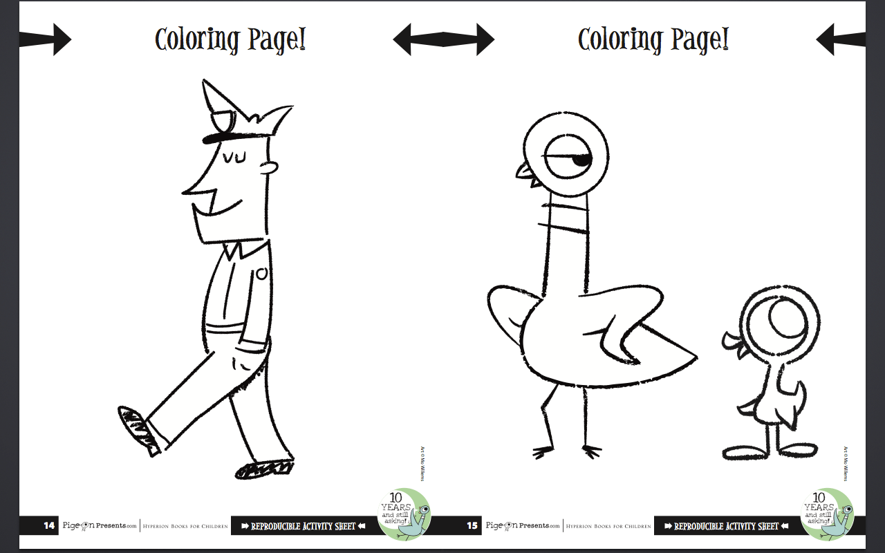Mo Willems Coloring Pages Free