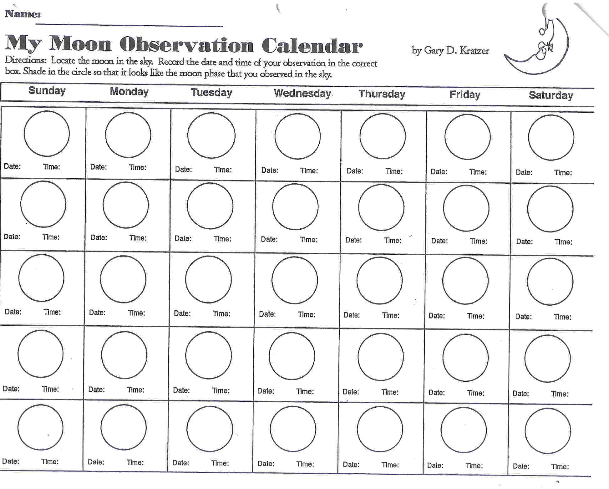 Phases Moon Coloring Pages
