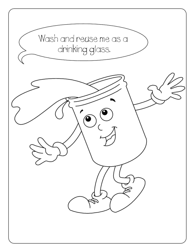 Water conservation colouring sheets coloring page for kids for Water colouring techniques