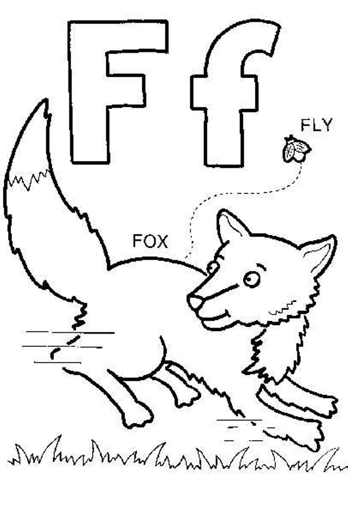 Fox Coloring Pages Free Alphabet Coloring Pages F For