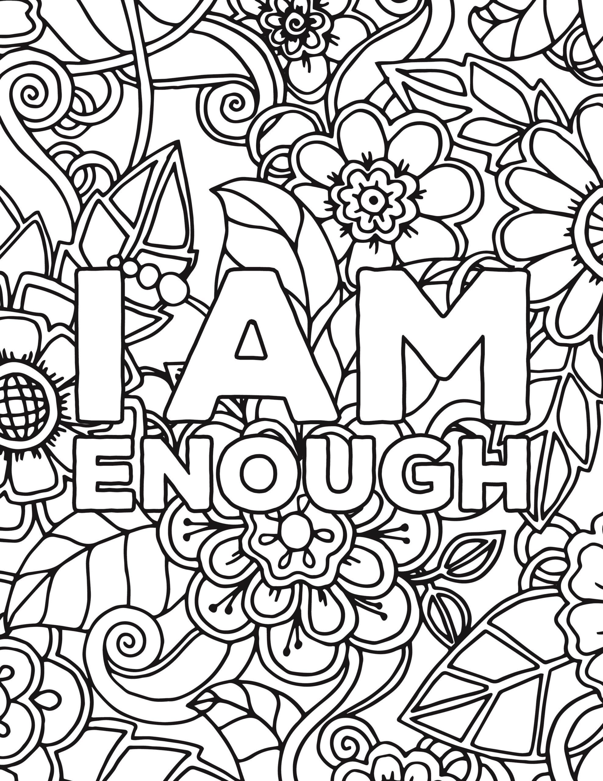 Self Esteem Coloring Pages
