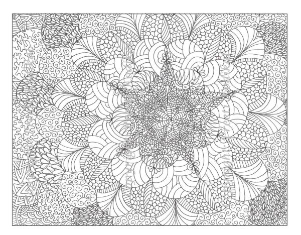 hard coloring pages for adults # 13