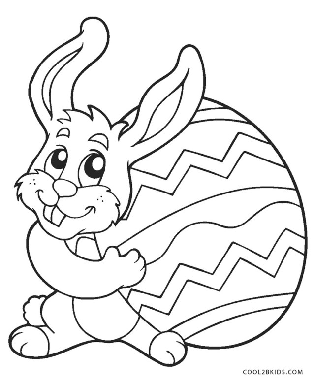 Free Printable Easter Bunny Coloring Pages For Kids Rabbit Color