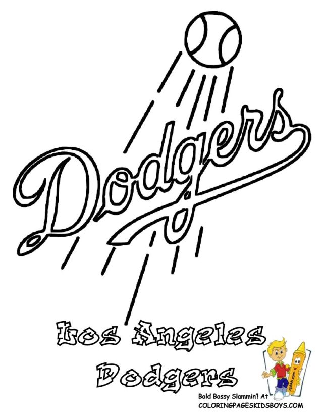 Los Angeles Dodgers Coloring Pages - Coloring Home