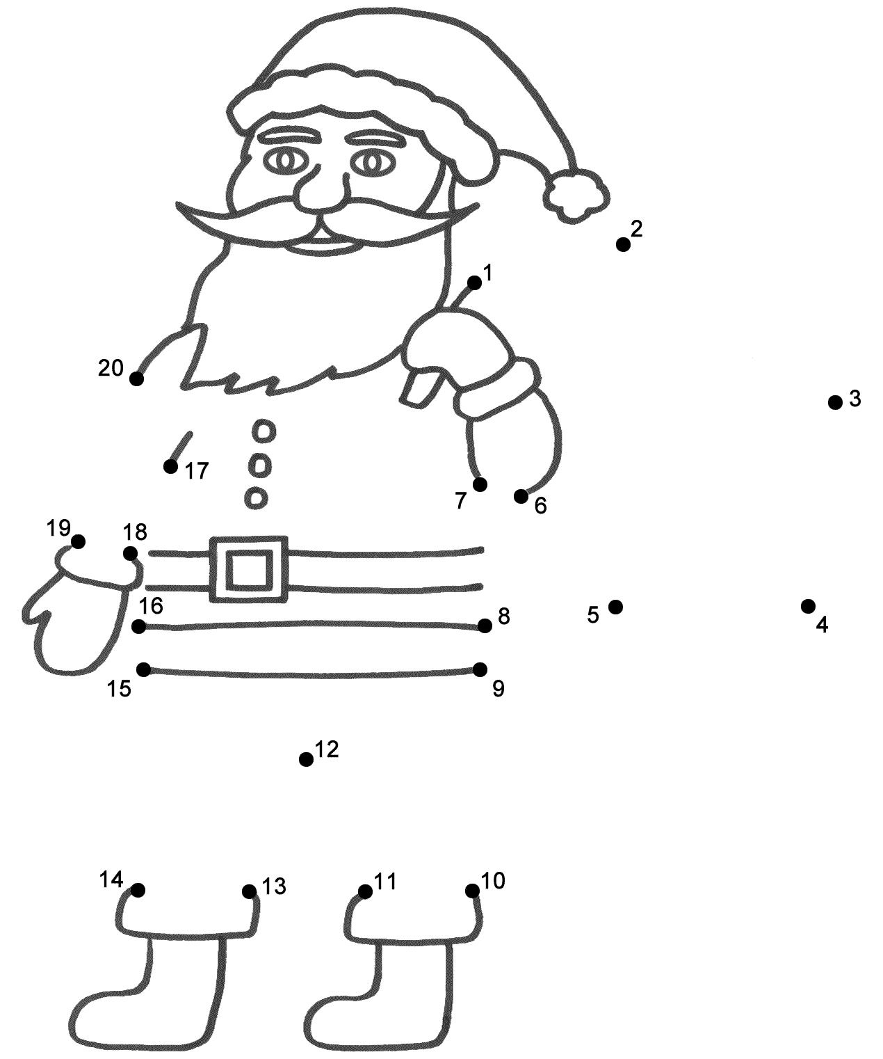 Coloring Pages Christmas Connect The Dots
