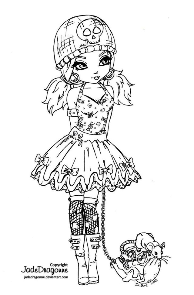 Goth Coloring Pages - Coloring Home