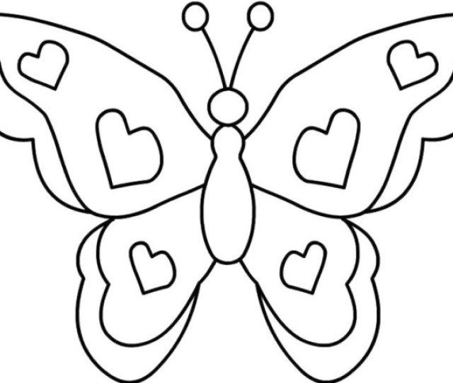 Simple Butterfly Coloring Pages Getcoloringpages Com Coloring Home
