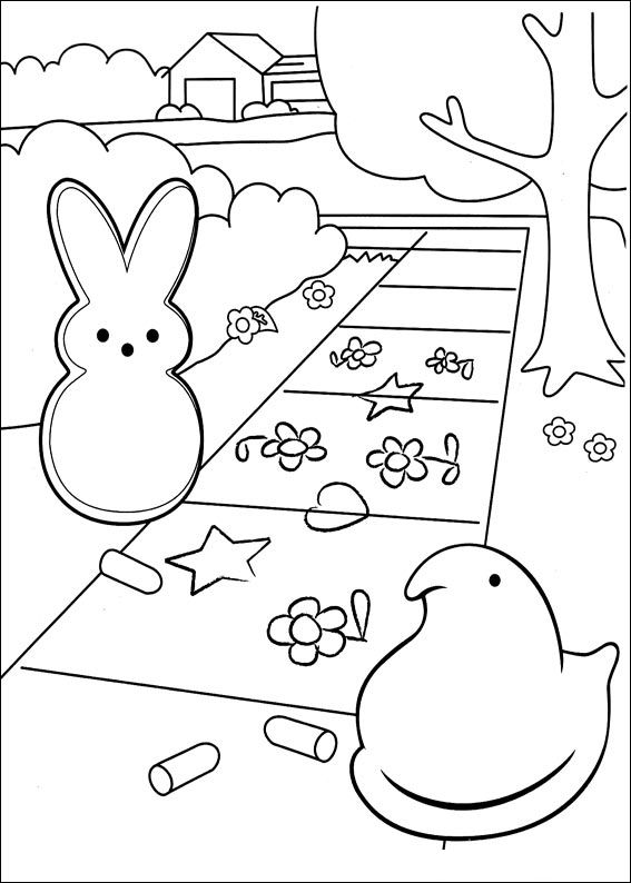 marshmallow peeps coloring pages  coloring home