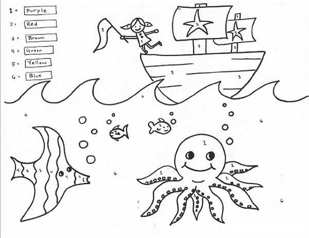 Coloring Worksheet For 5th Graders