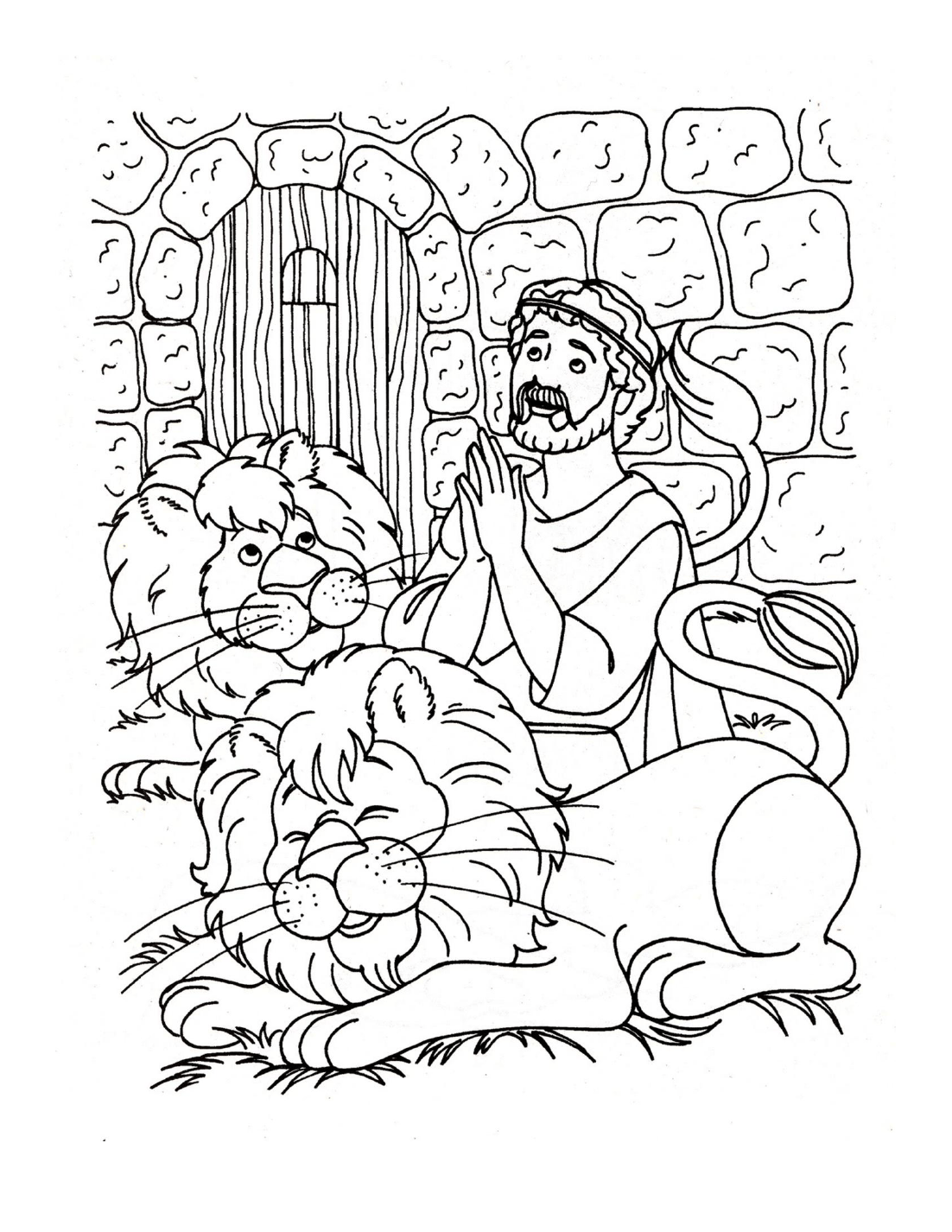 Daniel In The Lion Den Coloring Pages