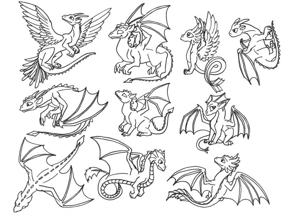 Cute Baby Dragon Pictures Coloring Home