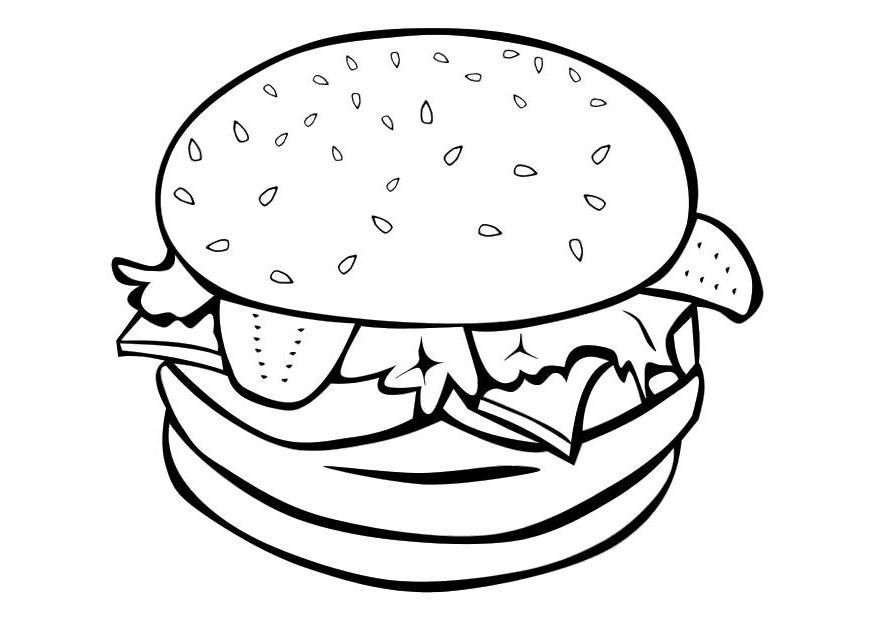 Coloring Page Food Coloring Home