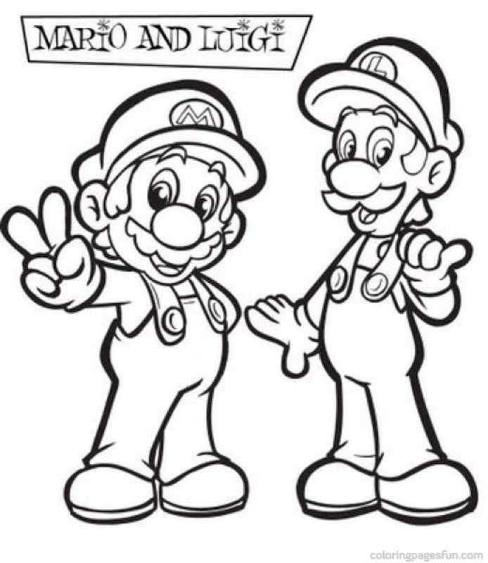 Printable Mario Brothers Coloring Pages Coloring Home