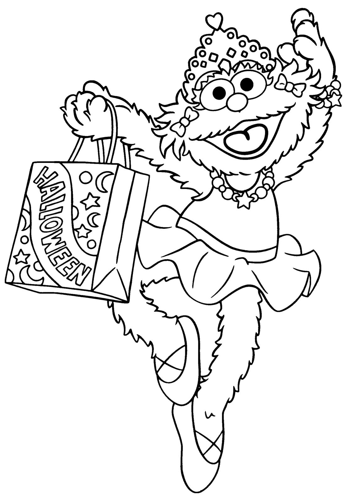 Sesame Street Sports Coloring Pages