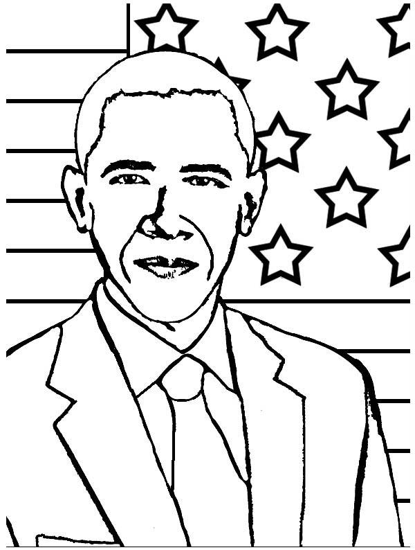 barack obama coloring page # 6