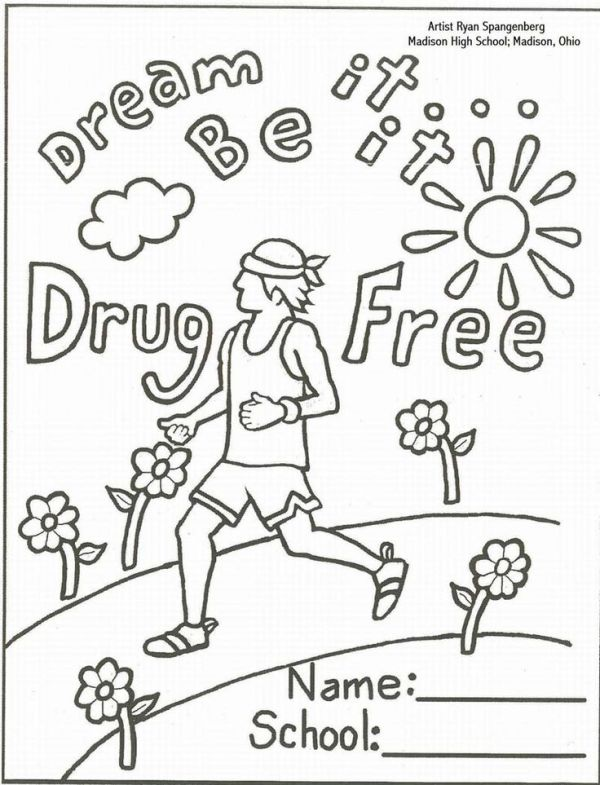drug free coloring pages # 4