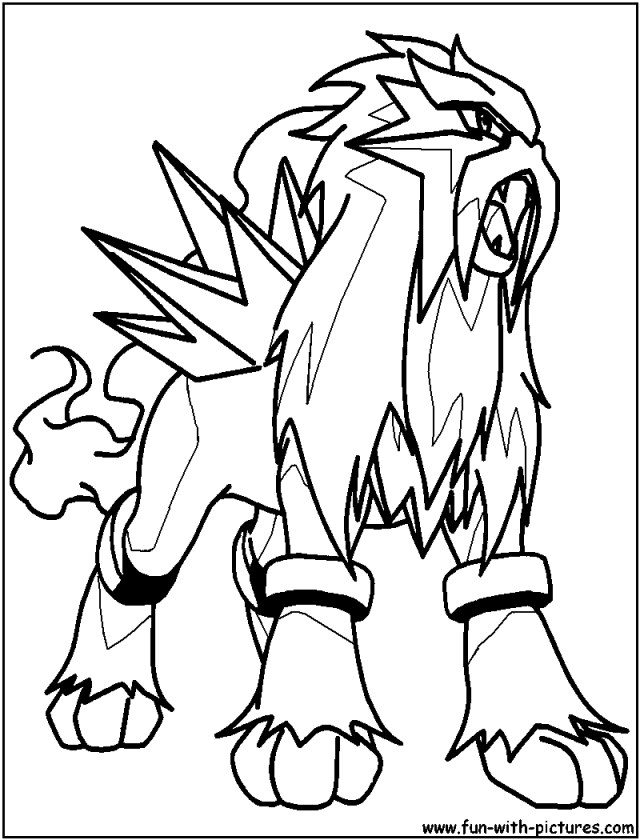 Entei Coloring Page - Coloring Home