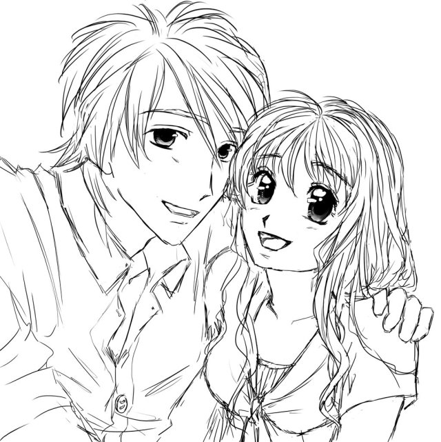 Cute Anime Chibi Couples Coloring Pages Original Cooold By Chibi