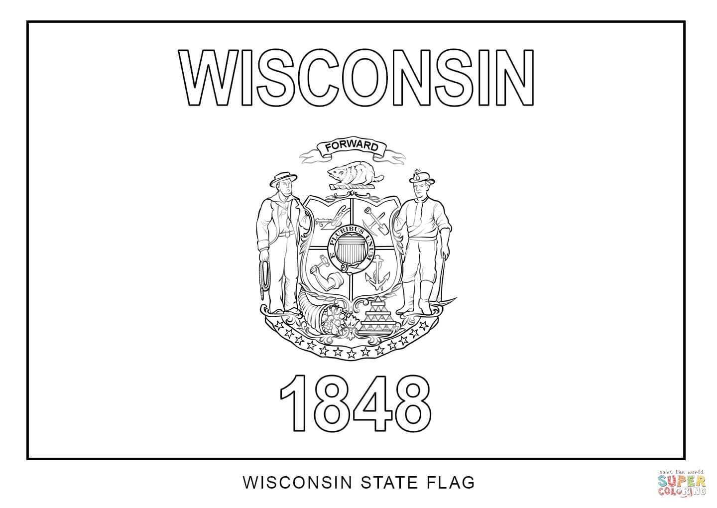 Wisconsinstate Bird Coloring Page