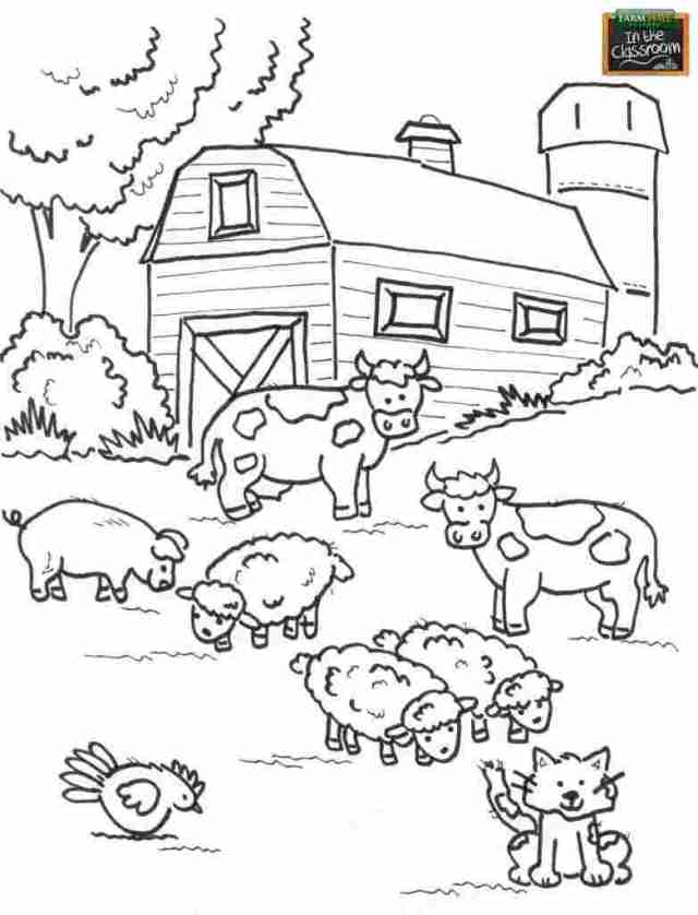 Coloring ~ Farm Animals Coloring Photo Ideas Colouring Pages For