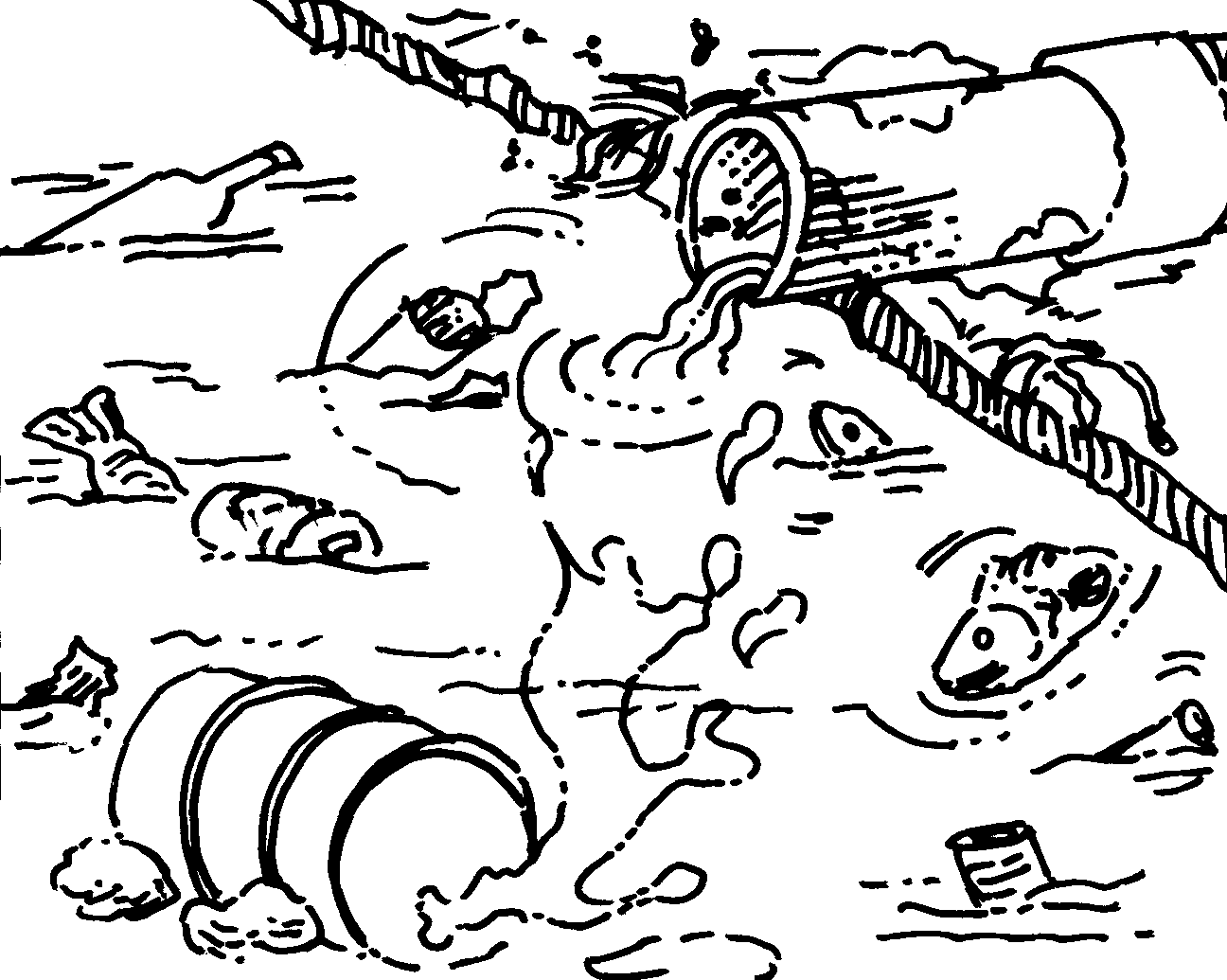 Pollution Coloring Pages