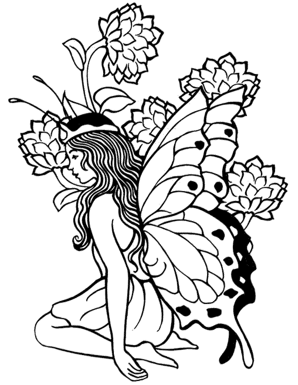 Printable Fairy Coloring Pages For Adults - Coloring Home | free printable coloring pages for adults funny