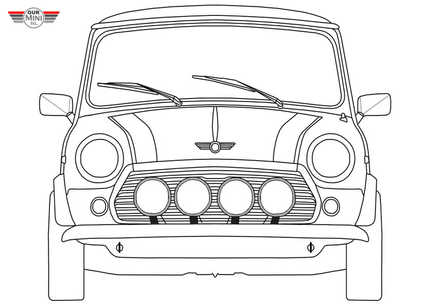 mini cooper coloring page  coloring home