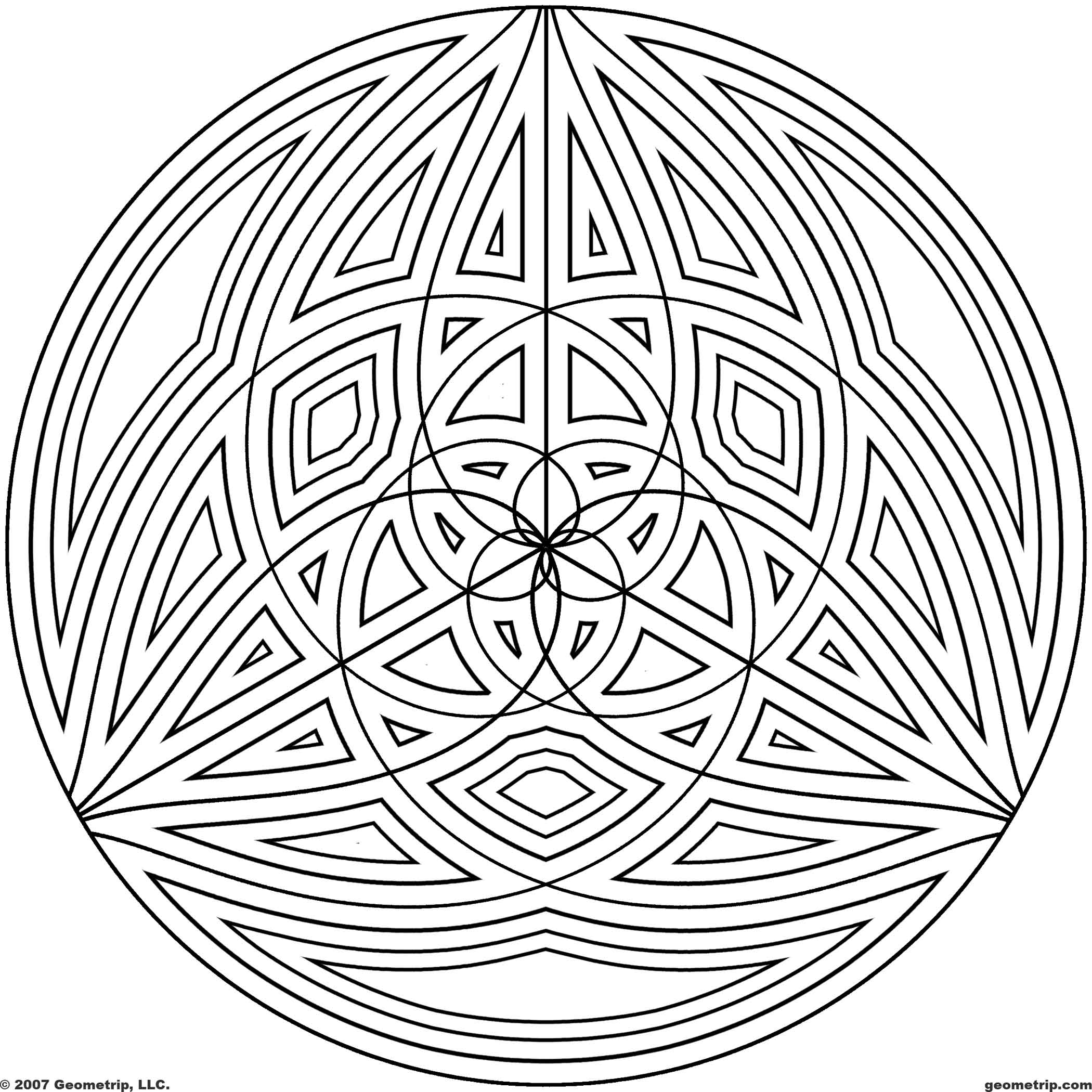 Cool Geometric Design Coloring Pages