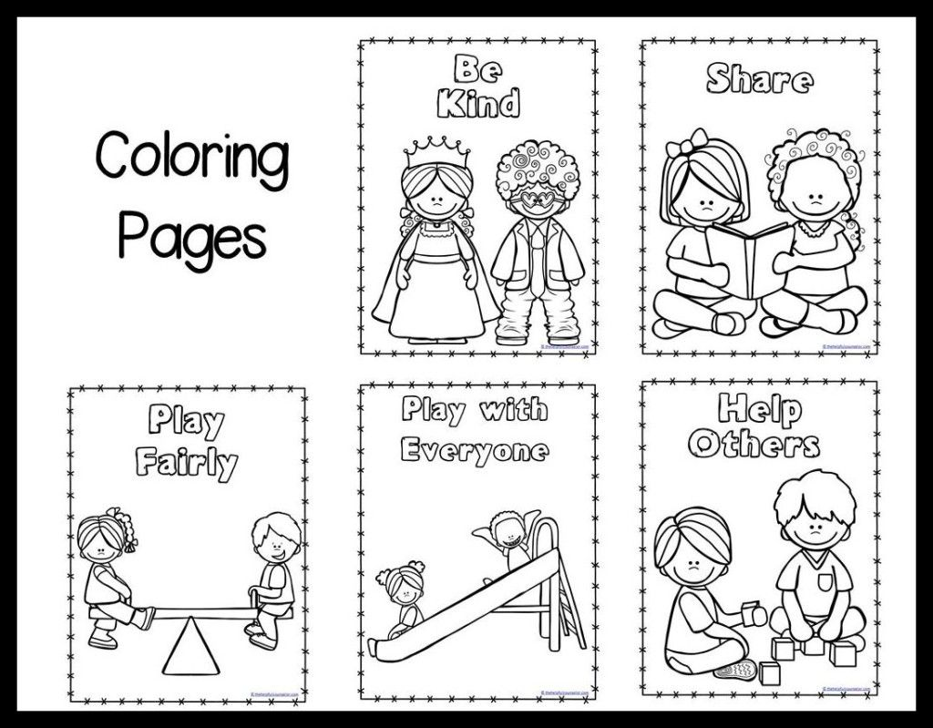Respect Others Coloring Page