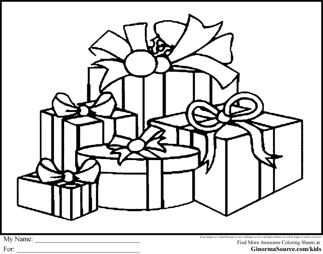Christmas Present Coloring Pages - Coloring Pages For All Ages