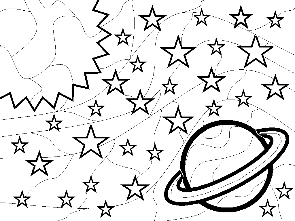 Outer Space Coloring Pages