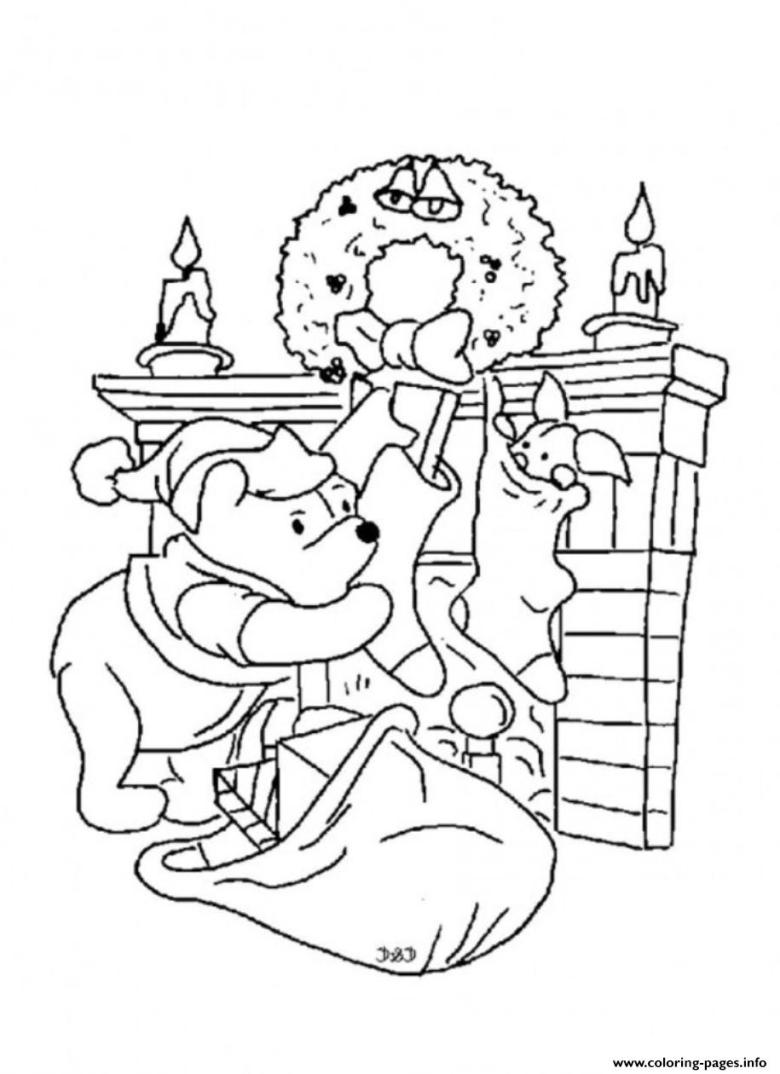 winnie the pooh christmas coloring pages - coloring home
