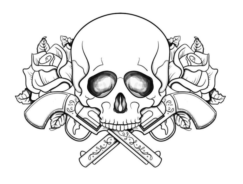 cool skull design coloring pages  coloring home