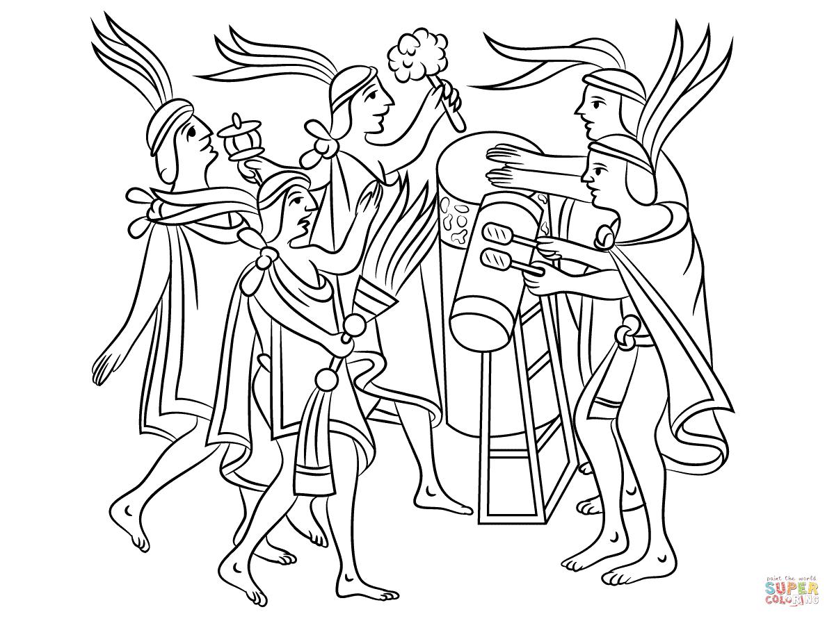 Aztec Art Pages Coloring Pages
