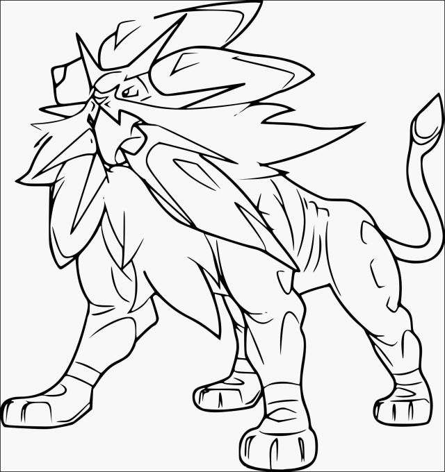 Solgaleo Coloring Pages - Coloring Home