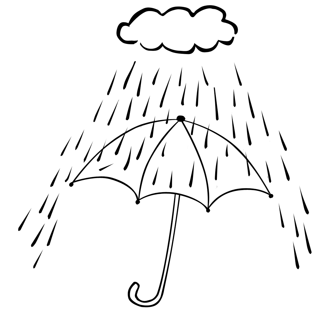 Raining Day Coloring Pages