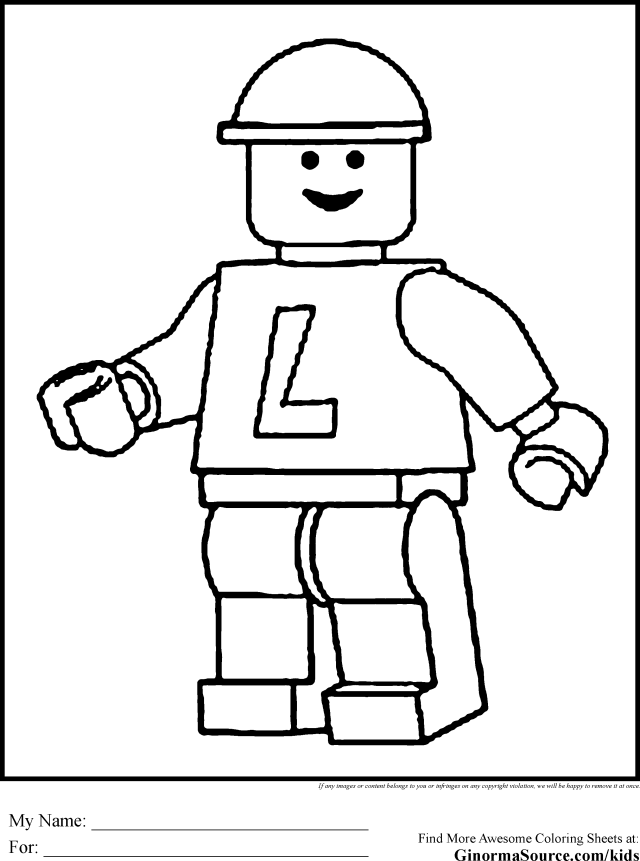Lego People Kids Care Coloring Pages Free Printable For You
