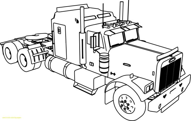 Coloring: Free Printable Tow Truck Coloring Pages. Big Truck